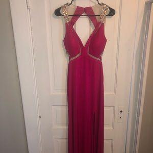 Hot Pink Faviana Prom Dress
